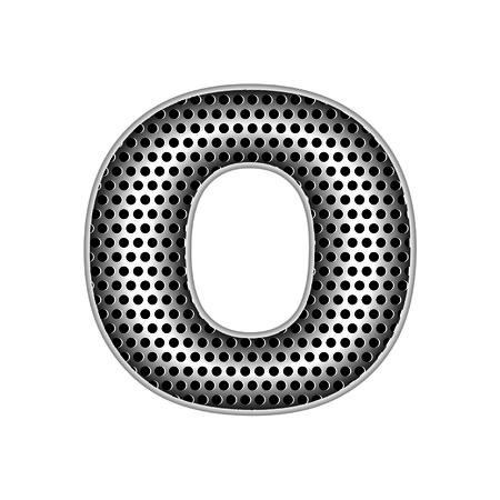 metal letters: metal letters O Illustration