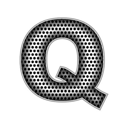 metal letters: metal letters Q
