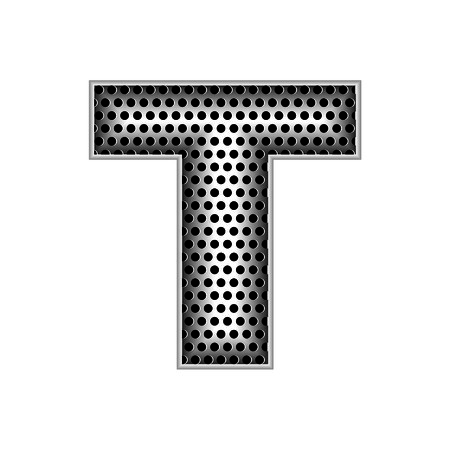 metal letters: metal letters T Illustration