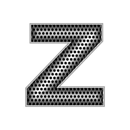metal letters: metal letters Z Illustration
