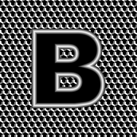nickel: letter b Illustration