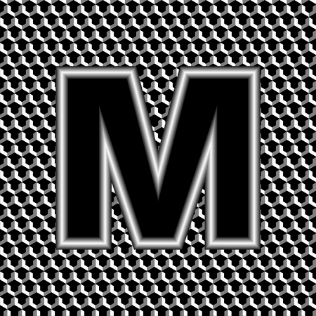 nickel: letter m
