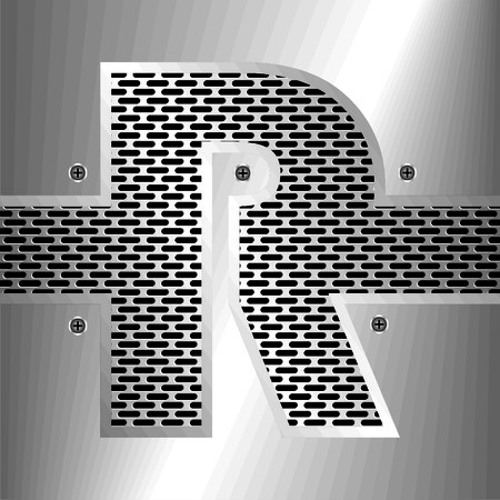 perforation: letter r Illustration