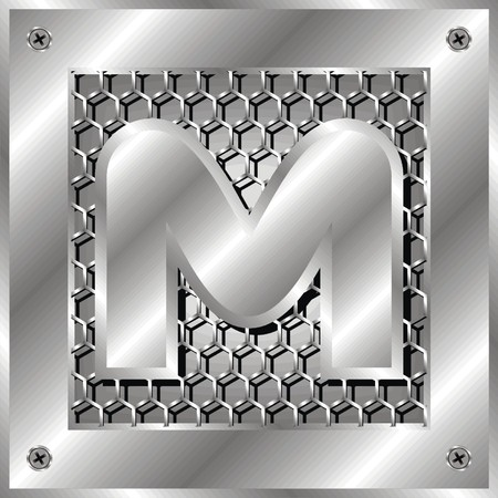 industrial hole: letter m