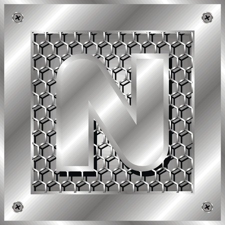 industrial hole: letter n