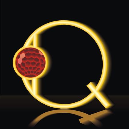 Lettet Q Illustration
