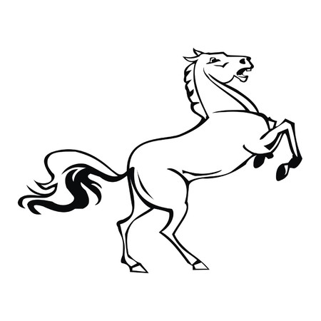 uncultivated: horse