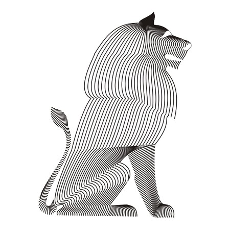 lion carcass Illustration