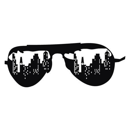 Sunglasses illustration isolated on white