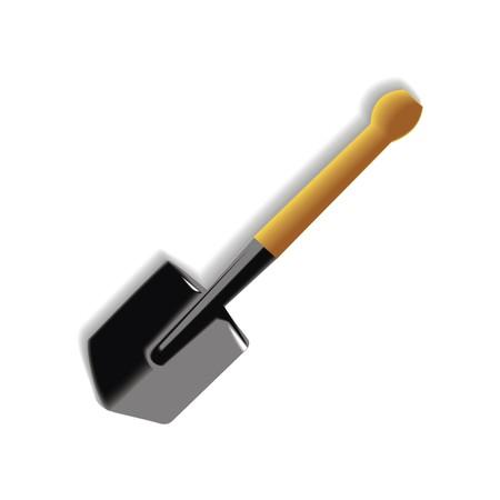 sapper shovel illustration isolated on white