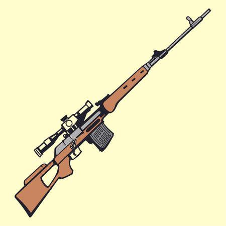 gun illustration Ilustración de vector