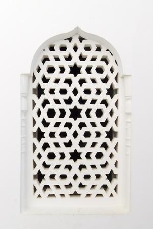 marocchini: Finestra tradizionale marocchina, con un ornamento tipico arabo