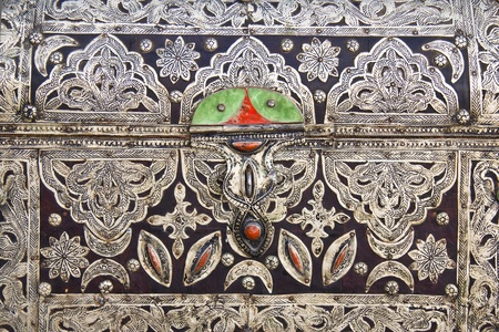 Detail from the traditional arabic jewellery box photo