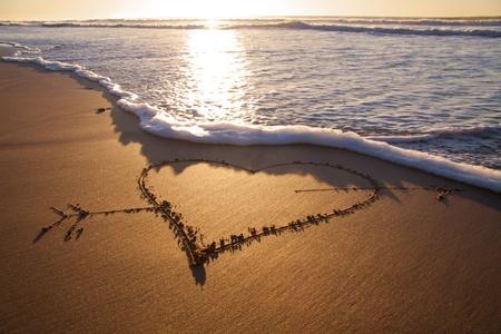 heard: Heard drawn in the sand on the atlantic coast