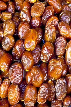souk: Dray dates sold at the moroccan souk Stock Photo