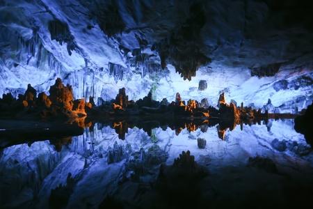 flauta: Lago subterr�neo Foto de archivo