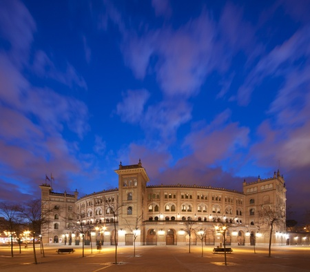 fight arena: Bullring in Madrid, Las Ventas, situated at Plaza de torros  It is the bigest bullring in Spain  Editorial