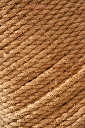 Patern made of thenatural brown rope. photo