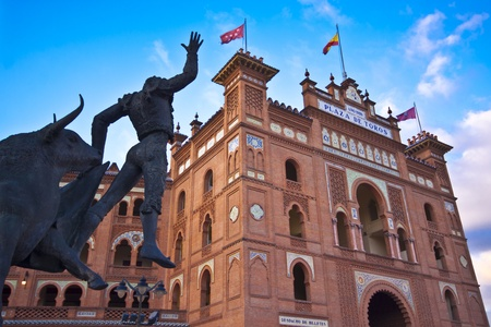 Bullring in Madrid, Las Ventas, situated at Plaza de torros  It is the bigest bullring in Spain