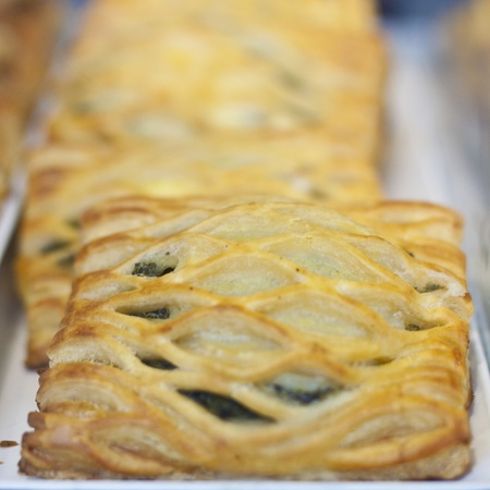 Kind of a  spinach pie often baked in in Mediterranean Countries. photo
