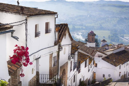 Street of one of the white andalusian white villages, Spain Stock Photo - 9639810