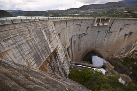 View from the top of the dam of the hydroelectric power station Stock Photo - 9711164
