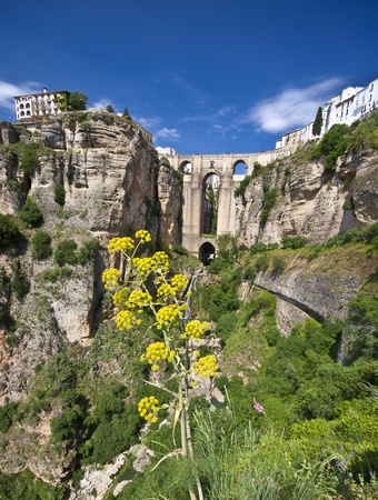 New bridge in Ronda, one of the famous white villages in Andalusia, Spain Stock Photo - 9711234