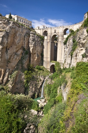 New bridge in Ronda, one of the famous white villages in Andalusia, Spain Stock Photo - 9711236