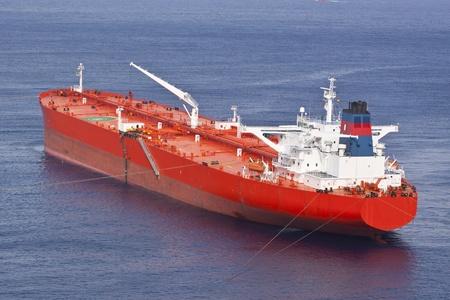 Red oil tanker