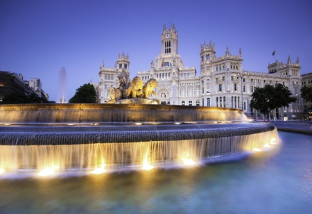 Plaza de la Cibeles (Cybele's Square) - Central Post Office (Palacio de Comunicaciones), Madrid, Spain. Stock Photo - 9829399