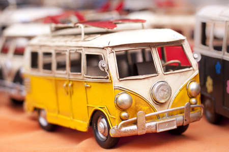 Retro volkwagen surfing van toy. photo