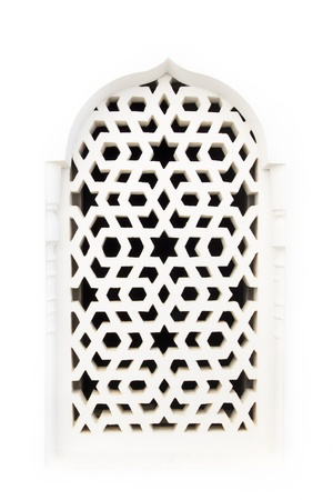 Traditional maroccan window, with a typical arabic ornament