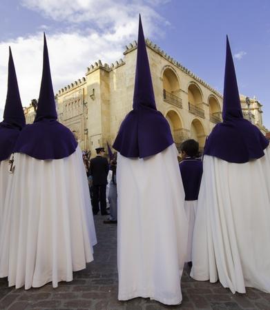 semana santa: The extraordinarily  Christianprocession of the Semana Santa  Holy Week  in Andalusia, Spain