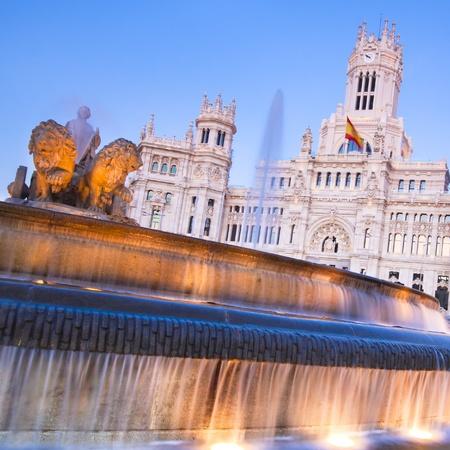plaza de la cibeles: Plaza de la Cibeles (Plaza de Cybele) - Oficina Central de correos (Palacio de Comunicaciones), Madrid, Espa�a.