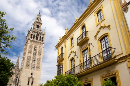 Cathedral of Seville, Spain, and the tower La giralda photo