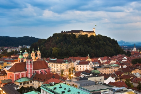 Panoramic view of Ljubljana, capital of Slovenia