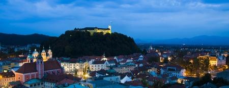 ljubljana: Panoramic view of Ljubljana, capital of Slovenia