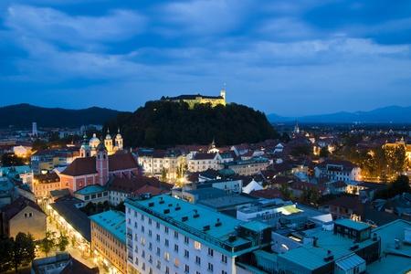 Panoramic view of Ljubljana, capital of Slovenia photo