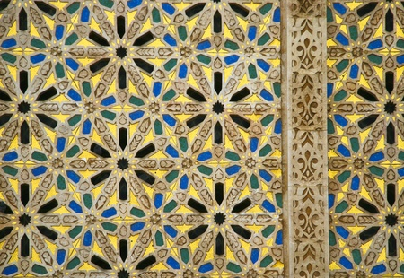 arabic architecture: Oriental mosaic detail - Hassan II Mosque - Casablanca - Best of Morocco