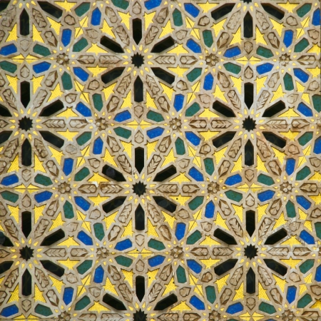 Oriental mosaic detail - Hassan II Mosque - Casablanca - Best of Morocco Stock Photo - 11144310