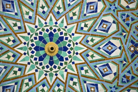 Oriental mosaic detail - Hassan II Mosque - Casablanca - Best of Morocco photo