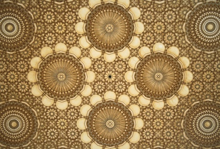 craft on marble: Oriental mosaic detail - Hassan II Mosque - Casablanca - Best of Morocco