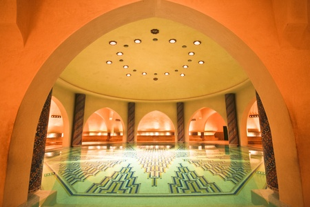Luxury hamam in the Hassan II mosque in Casablanca, Morocco