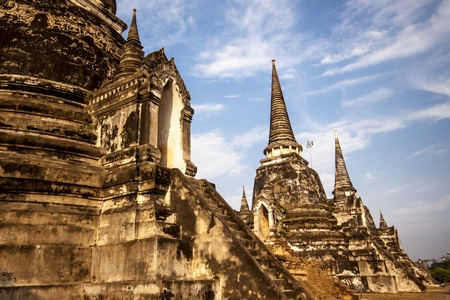 ayutthaya: Old Siam Temple of Ayutthaya, Thailand  UNESCO word heritage  Editorial