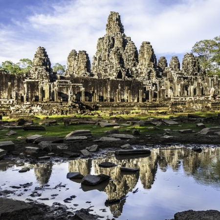 Bayon temple in the afternoon sun, Angkor Wat, near Siem Reap, Cambodia, South East Asia. photo