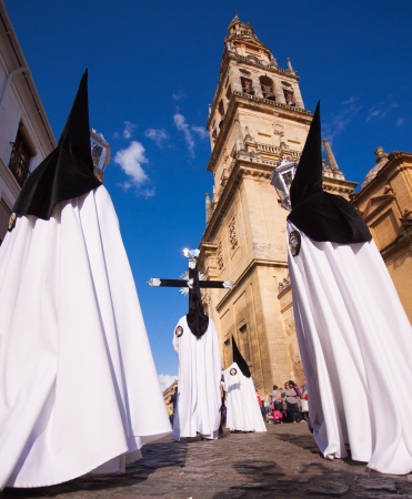 procession: The extraordinarily  Christian procession of the Semana Santa (Holy Week) in Cordoba, Spain.