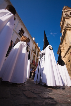 The extraordinarily  Christian procession of the Semana Santa (Holy Week) in Cordoba, Spain. photo