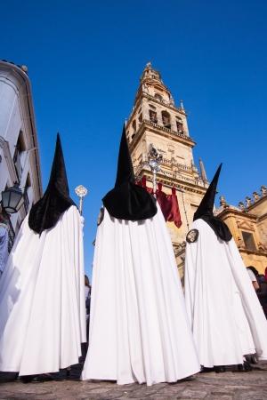 The extraordinarily  Christian procession of the Semana Santa (Holy Week) in Cordoba, Spain. photo