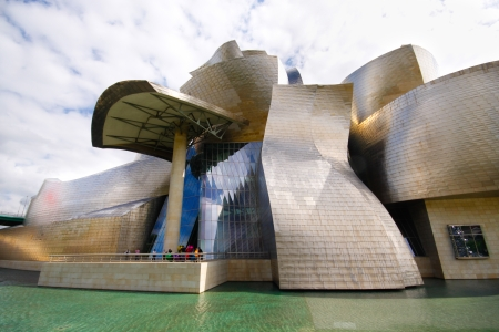 Exterior of Guggenheim museum in Bilbao, Basque, Spain