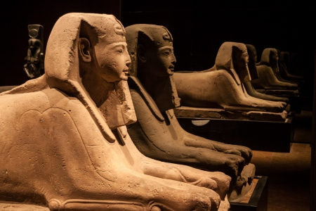 Sphinx - these are some of the exponats from The Egyptian Museum of Turin (the second in the world after the Cairo Museum) which was established in 1824.